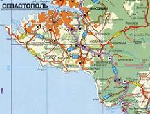 Карта Севастополя (карта автомобильных дорог Севастополя)