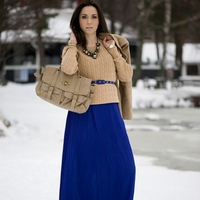 Длинная юбка зимой - стильно и красиво