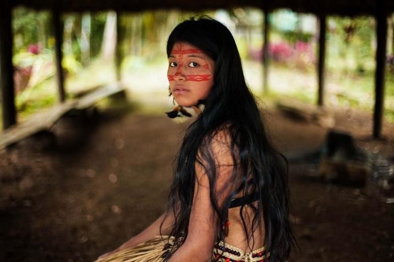 Фото девушки, Джунгли Амазонии