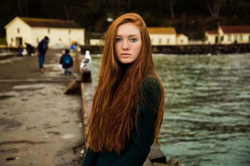 Фото девушки, Сан-Франциско, США