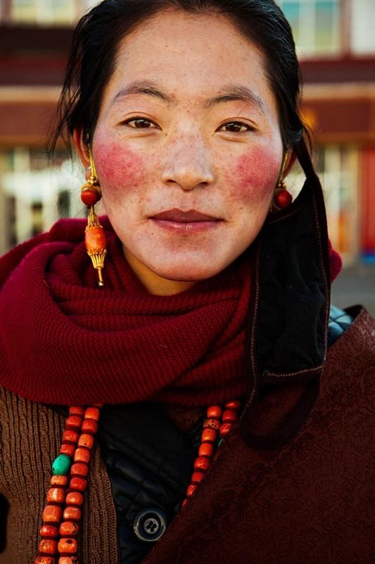 Фото девушки, Тибетское плато, Китай